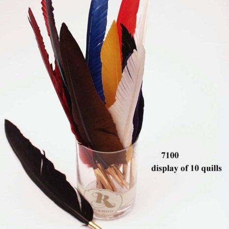 Vágott színes penna, festett lúdtoll (golyós)