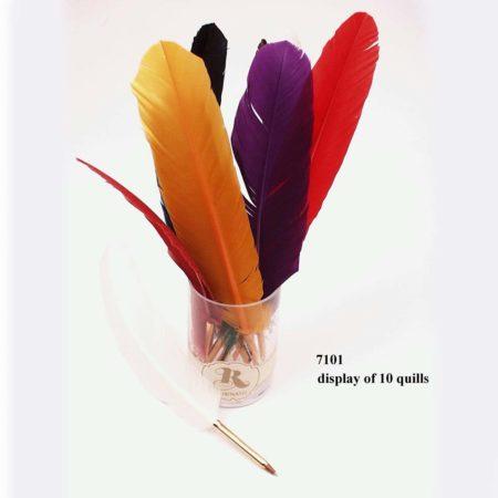 Színes penna, festett lúdtoll (golyós)