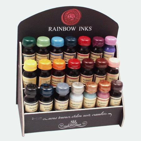Kis üveges tinta különböző színekben, papírdobozban (10 ml)