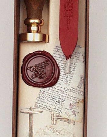 Viaszpecsételő készlet Leonardo da Vinci díszdobozban