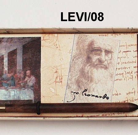 Írószer készlet Leonardo da Vinci díszdobozban (iron három színű tintával)