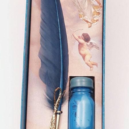 Angyalkás díszdobozban  (írószer és pecsételő készletek)