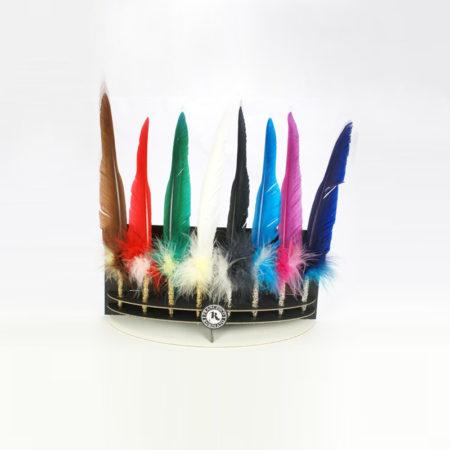 Különleges festett penna golyóstoll díszes tollszárral (32 cm) celofán csomagolással