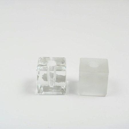 Üveg penna/iron tartó kocka formájú 3 x 3 cm-es