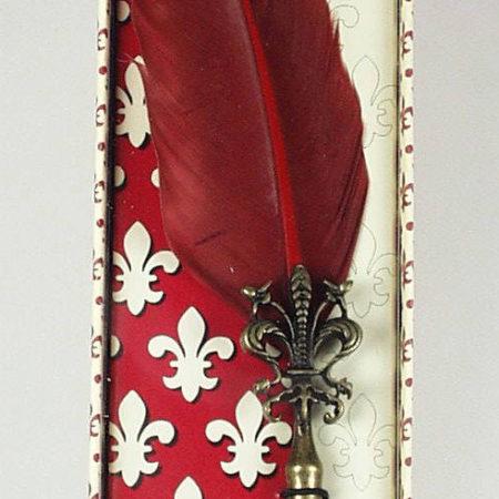 Különlegesen díszes anjou liliomos penna díszdobozban különböző színekben
