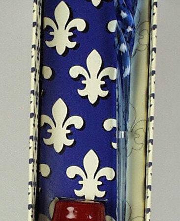 Csavar muránói üvegtoll anjou liliomos díszdobozban különböző színekben