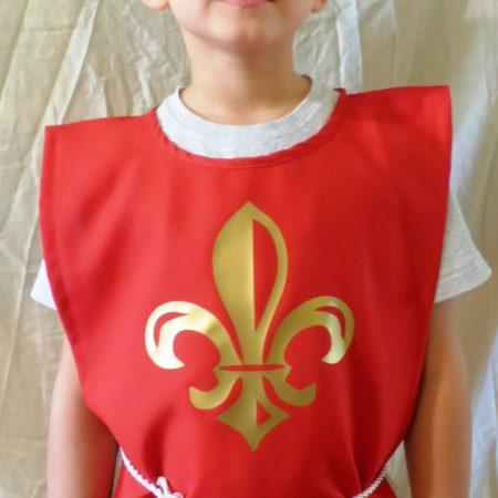 Anjou-liliomos lovagi felöltő - nyugati zsoldos katona