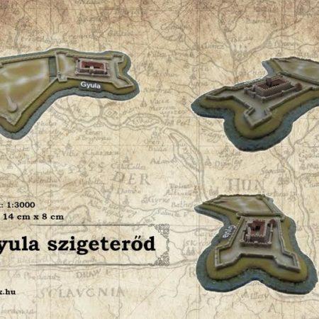 Gyula szigeterőd vármakett - lépték 1:3000