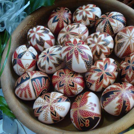 Viaszolt, írott tojások