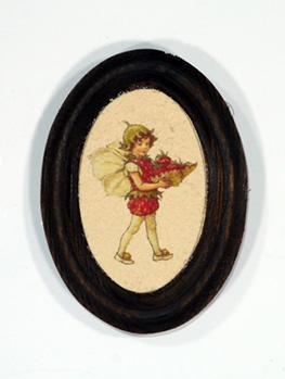 Merített papírkép antikolt képkeretben
