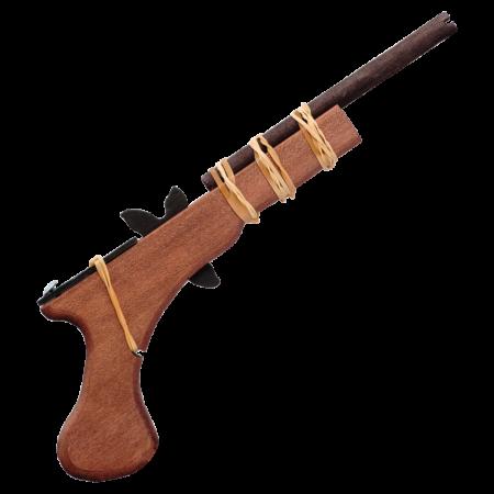 Csettegő pisztoly barna