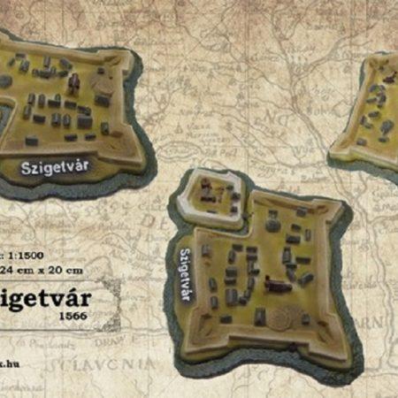 Szigetvár vára vármakett 1566 - 1:1500
