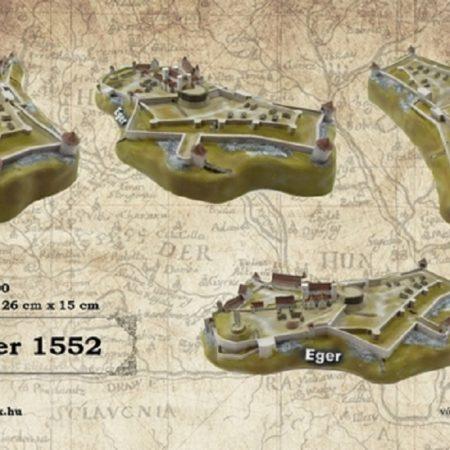 Eger vára vármakett 1552 - 1:1500