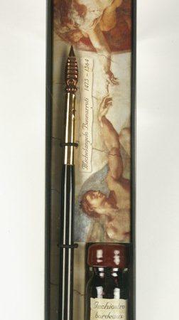 Michelangelo sorozat - Írószerkészlet mártogatós ironnal és tintával díszdobozban