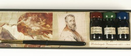 Michelangelo sorozat - Írószerkészlet mártogatós ironnal díszdobozban