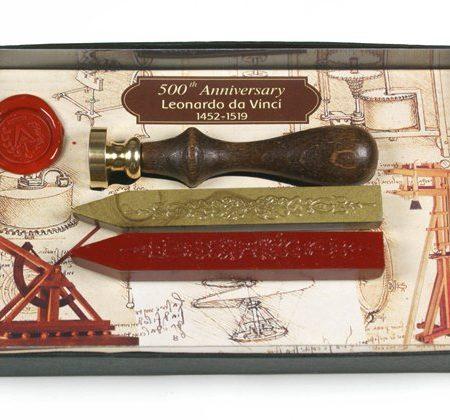 Pecsételő készlet Leonardo da Vinci díszdobozban