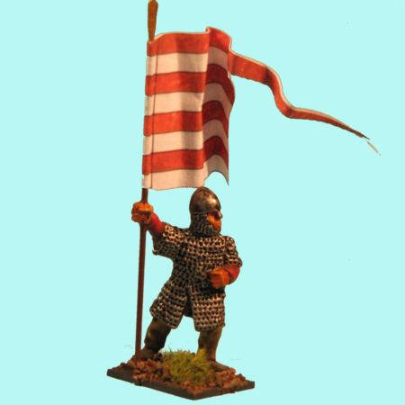 Gyalogos zászlós ólomkatona