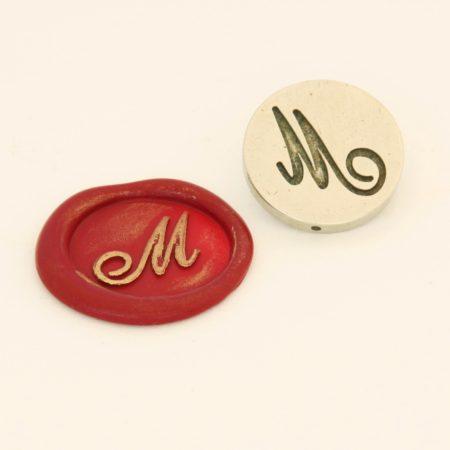Monogramos cserélhető betű bronz viaszpecsételőhöz
