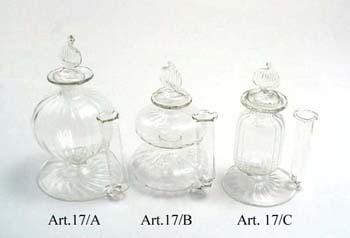 Különleges üveg tintatartó irontartóval