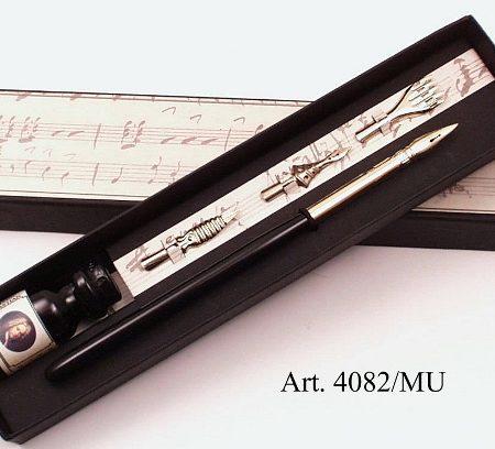 Zenei írószerkészlet fekete nyelű ironnal díszdobozban