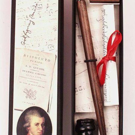 Komplettírószerkészlet Mozart témájú díszdobozban